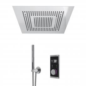 "Steinberg Sensual Rain ""iFlow"" shower system with Sensual Rain ""Wall Rain"" rain panel, square with lighting"