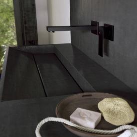 Steinberg series 160 wall-mounted single lever basin mixer projection: 205 mm, matt black