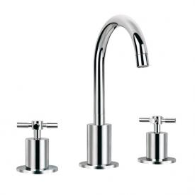 Steinberg Series 250 three hole basin mixer with pop-up waste set