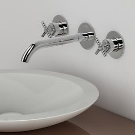 Steinberg Series 250 wall-mounted, three hole basin mixer projection: 245 mm