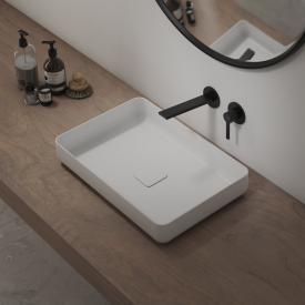 Steinberg series 260 trim set for single lever basin mixer, projection 205 mm matt black