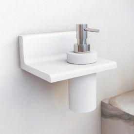 Steinberg series 430 bathroom set bracket with soap dispenser white