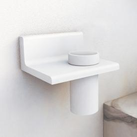 Steinberg series 430 bathroom set bracket with tumbler white