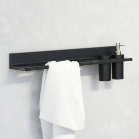 Steinberg series 430 towel bar with cut-out for soap dispenser or tumbler black