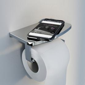 Steinberg series 450 toilet roll holder with shelf chrome
