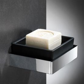Steinberg Serie 460 soap dish set satin black