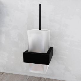 Steinberg series 460 wall-mounted toilet brush set matt black/satin white