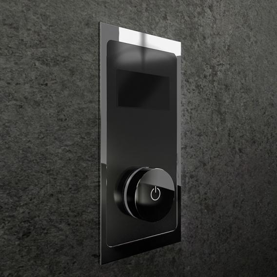 Steinberg iFlow fully electronic fitting with digital display for 4 outlets black/chrome