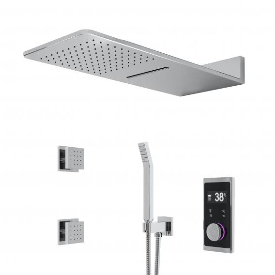"Steinberg Sensual Rain ""iFlow"" shower system with Sensual Rain ""Wall Rain"" overhead shower, rectangular"