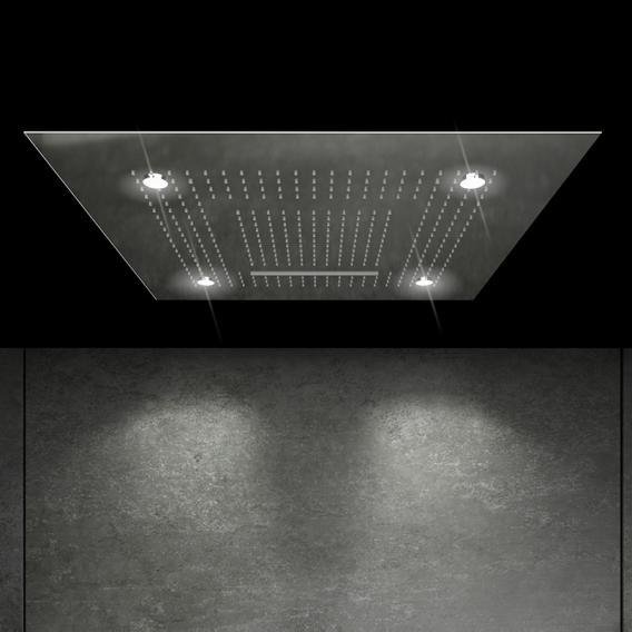 "Steinberg Sensual Rain ""iFlow"" shower system with Sensual Rain ""Wall Rain"" rain panel, square with lighting"