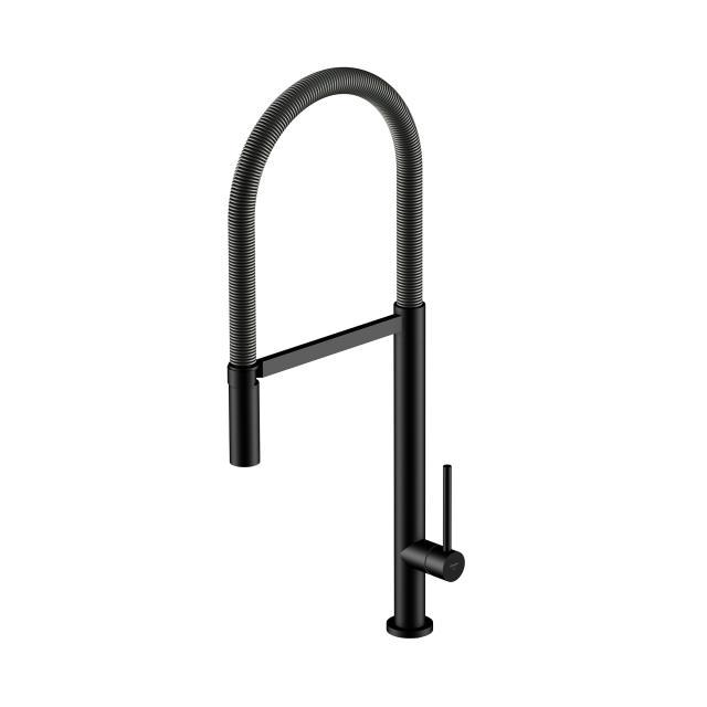Steinberg series 100 single lever kitchen mixer matt black