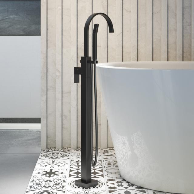 Steinberg Series 135 freestanding bath/shower mixer matt black