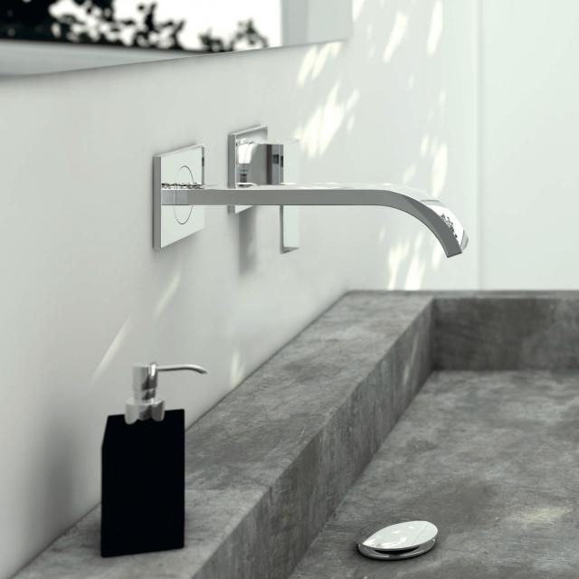 Steinberg Series 135 wall-mounted, single lever basin mixer projection: 200 mm
