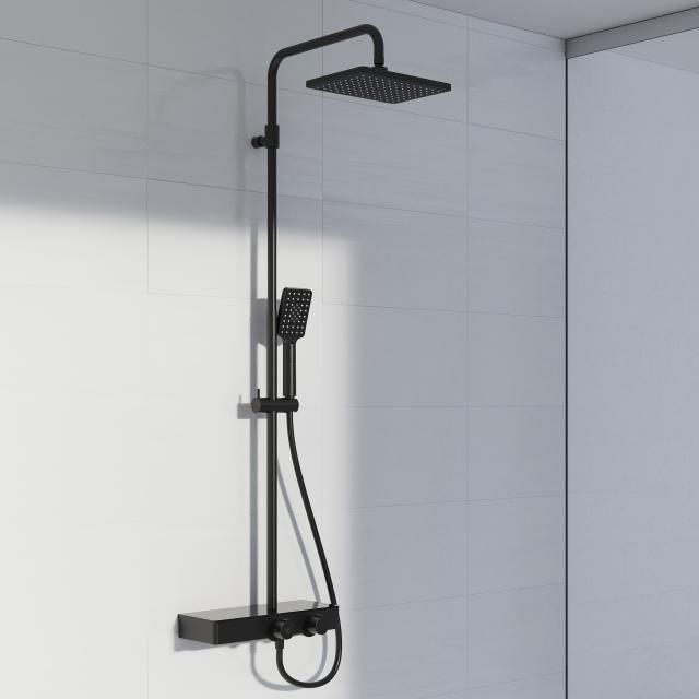 Steinberg series 390 shower set complete with thermostatic fitting matt black