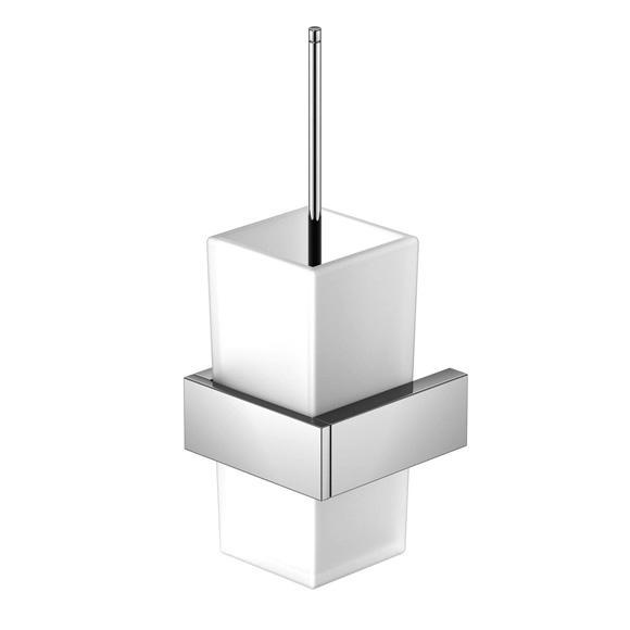 Steinberg Series 460 wall-mounted toilet brush set chrome/satin white