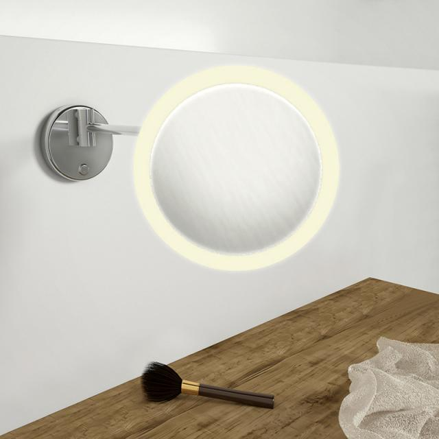 Steinberg series 650 LED wall-mounted beauty mirror with dimmer function