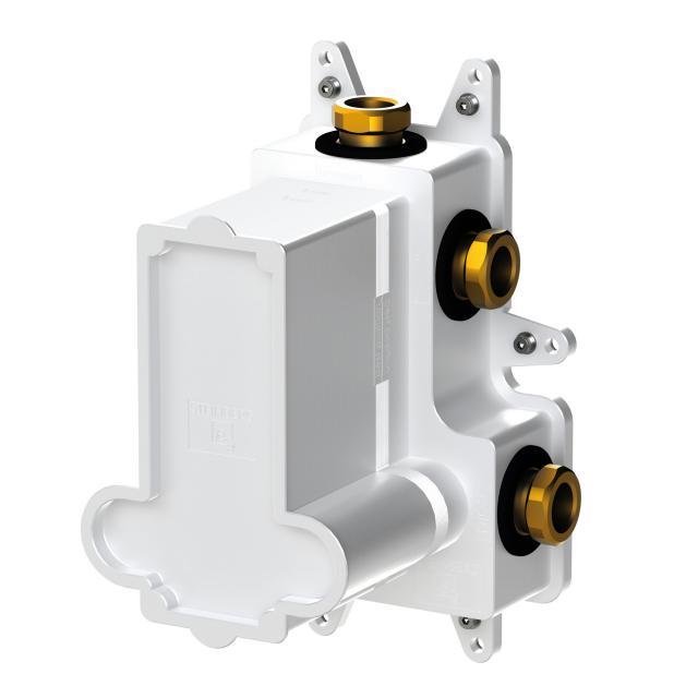 "Steinberg Steintec concealed installation unit 1/2"", for thermostats with diverter white/matt black"