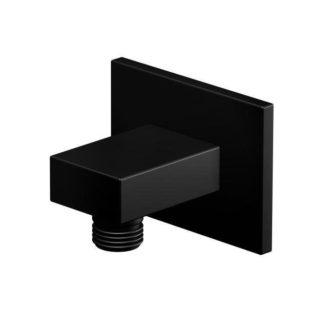 "Steinberg wall mounted elbow outlet 1/2"" matt black"