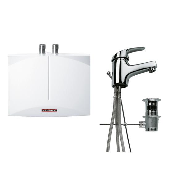 Stiebel Eltron mini instant. water heater DNM 3 + MAE, open vented w. single lever mixer