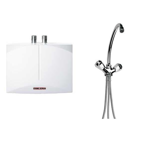 Stiebel Eltron mini instant. water heater DNM 3 + MAZ, open vented w. 2 lever basin mixer
