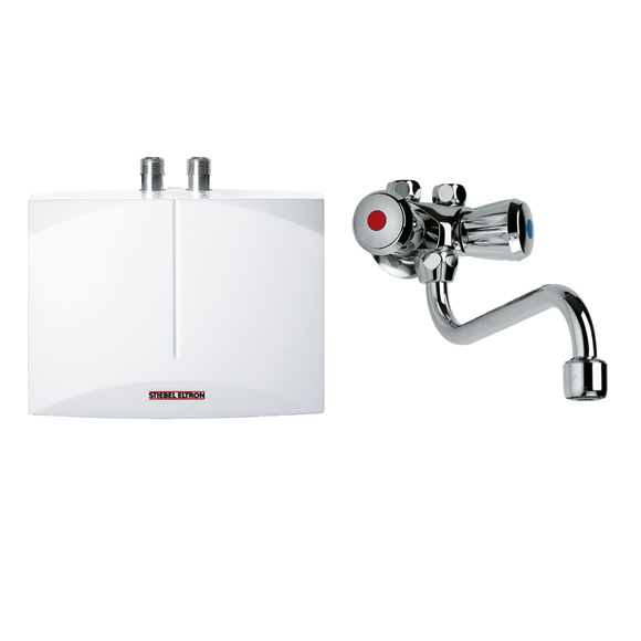Stiebel Eltron mini instantaneous water heater DNM 3 + MAW, open vented with wall fittings
