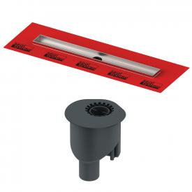 TECE drainline shower channel set, with factory fitted sealing sleeve, straight vertical outlet DN 50, 78 l/min