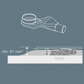 TECE drainline super flat DN 40, side drainage outlet, 0.5l/s