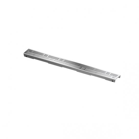 """TECE drainline design grate """"basic"""" for drain, straight polished stainless steel, L: 70 cm"""