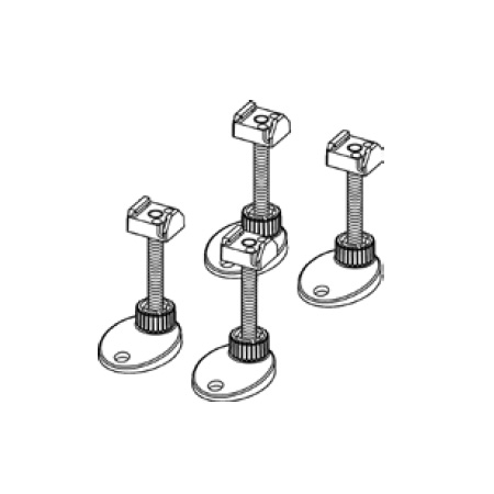 TECE drainline mounting legs, sound-insulated, adjustable range 92-139 mm
