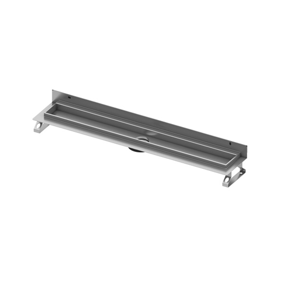 TECE drainline channel, straight, with wall upstand L: 80 cm