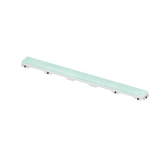 TECE drainline glass cover for drain, straight green, L: 80 cm
