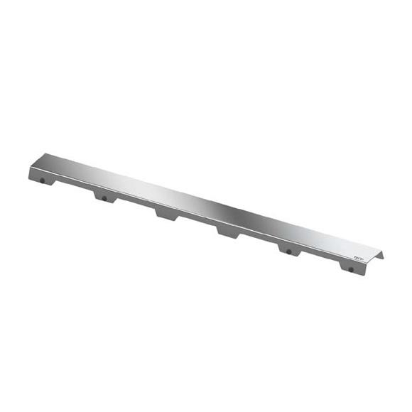 """TECE drainline design grate """"steel II"""" for drain, straight polished stainless steel, L: 80 cm"""