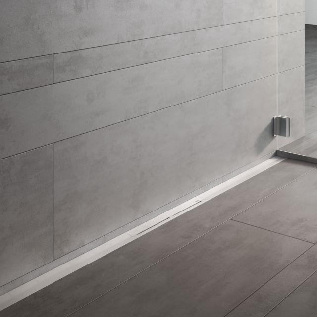 TECE drainprofile shower channel brushed stainless steel, L: 120 W: 5.5 cm