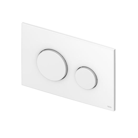 TECE loop toilet flush plates for dual flush system made of plastic white anti-bacterial