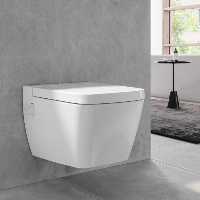 TECE one wall-mounted, washdown toilet, with shower function, cold water, with toilet seat