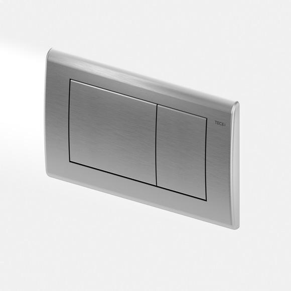 TECE planus toilet flush plates for dual flush system brushed s/steel