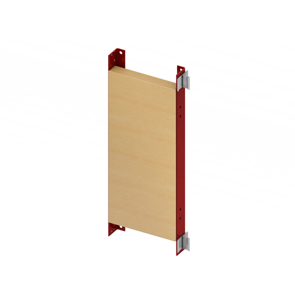 TECE profil mounting plate for grab rails and support systems, H: 65.5 cm