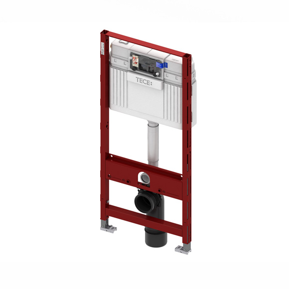 TECE profil wall-mounted toilet module H: 112 cm, with TECE cistern, front actuation