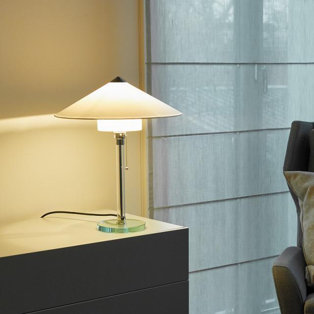 TECNOLUMEN Wagenfeld WG 27 table lamp, bottom shade cylindrical