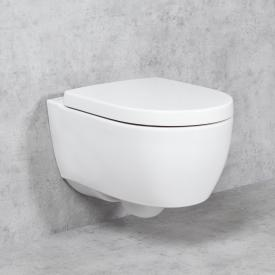 Geberit iCon & Tellkamp Premium 1000 wall-mounted toilet set: toilet without flushing rim, with KeraTect, toilet seat without soft-close
