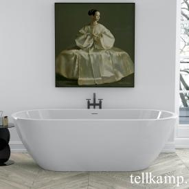 Tellkamp Cosmic freestanding oval bath white gloss, panel white gloss, without filling function