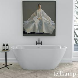 Tellkamp Cosmic freestanding oval bath panel white gloss, without filling function