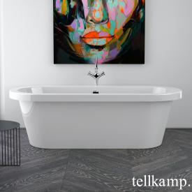 Tellkamp Elegance Baignoire ovale en îlot blanc brillant