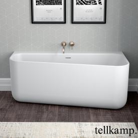 Tellkamp Koeko Baignoire murale avec habillage blanc mat, sans fonction de remplissage