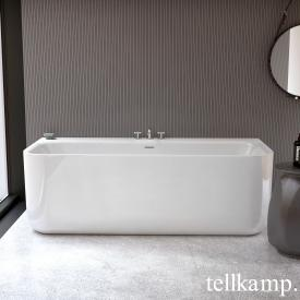 Tellkamp Koeno back-to-wall bath with panelling white gloss, without filling function