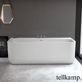 Tellkamp Koeno Baignoire murale avec habillage blanc mat, sans fonction de remplissage