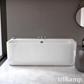 Tellkamp Koeno bath white gloss, with filling function via overflow