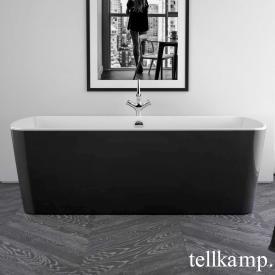 Tellkamp Komod Baignoire balnéo rectangulaire blanc brillant, tablier noir brillant