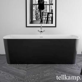Tellkamp Komod freestanding rectangular bath white gloss, panel black gloss, without filling function