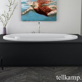 Tellkamp Neon Fix oval bath white gloss, without filling function